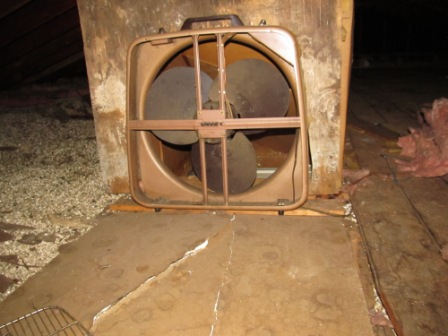 Homemade attic fan