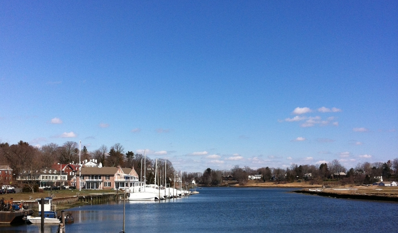 Southport CT Harbor in Early Spring