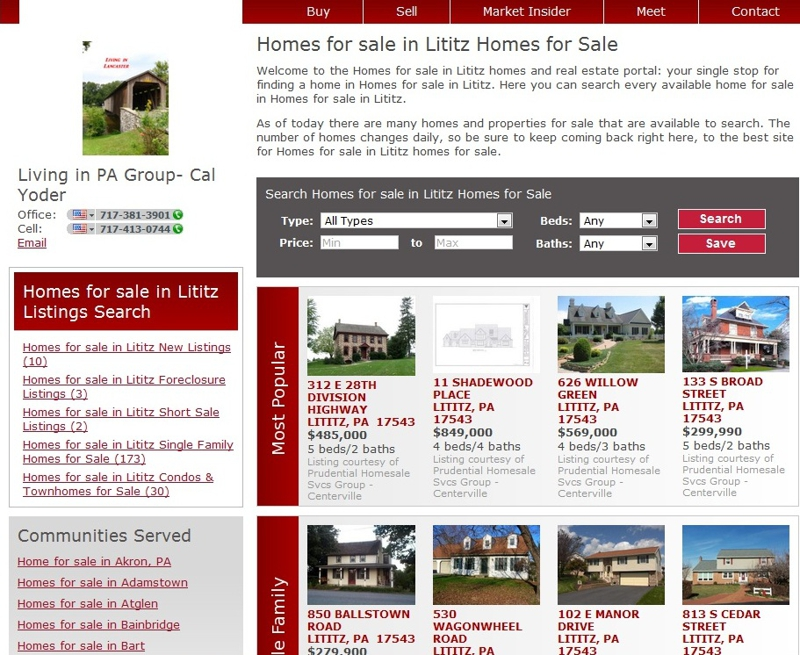 Lititz PA Homes for Sale in Lancaster County January 20, 2012