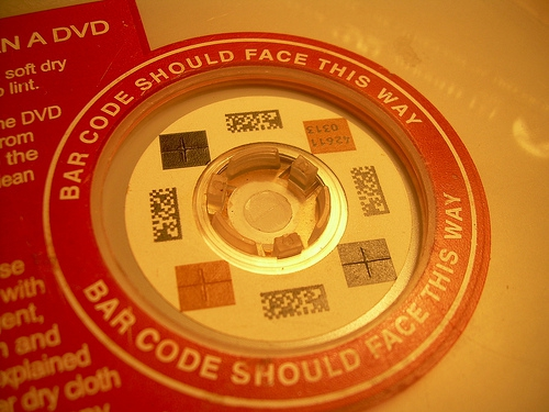 RedBox - Barcode facing up for return