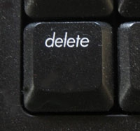 the delete button