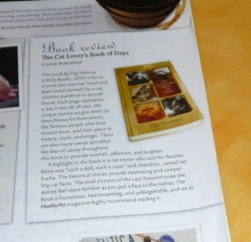 Book review in magazine