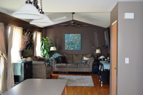family room of Minooka home for sale