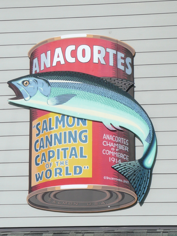 Garbage Cans of Anacortes- Historic Salmon Label Art