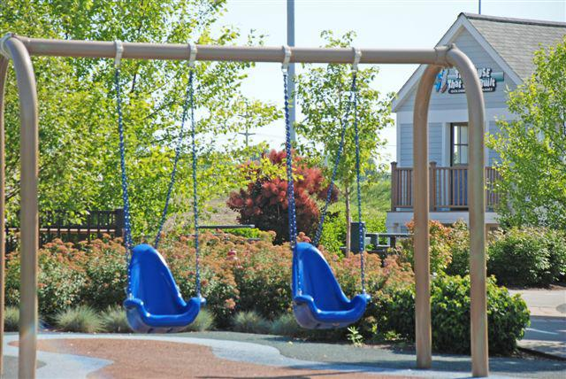 swings at Preston's H.O.P.E. playground
