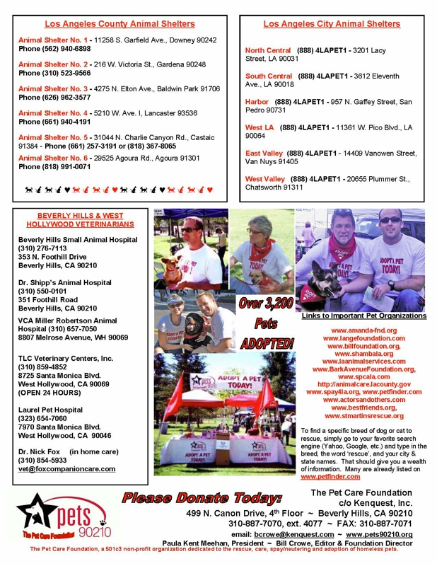 pets 90210 newsletter page 2