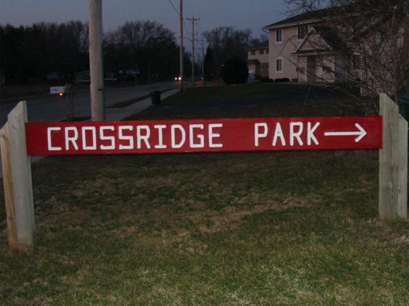 Crossridge Park sign