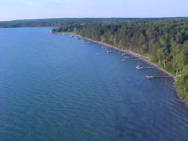 Burt lake cottages for sale for Mullett lake fishing