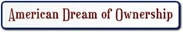 American dream of ownership