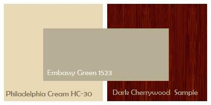 Philadelphia Crea HC-30 with Dark Cherrywood Cabinets and Embassy Green 1523
