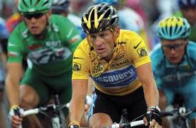 Lance Armstrong in the Tour de France