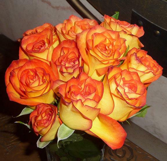 Orange Rose Bouquet HomeRome Realty