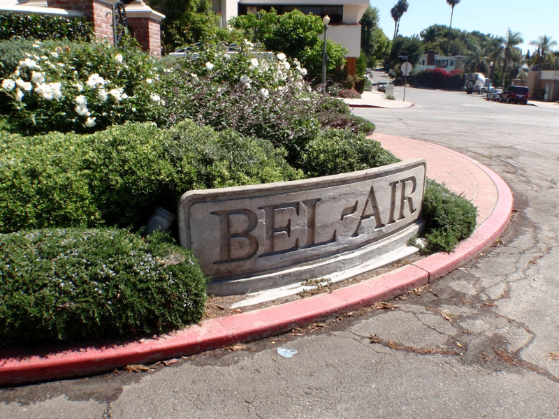 Bel Air  Sign infront of the Humane Society Building