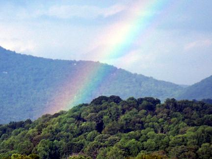 summer rainbow over ashevile, n.c.