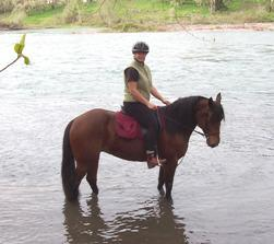 Riding my horse at Elijah Bristow State Park 1 hour from Salem, Oregon