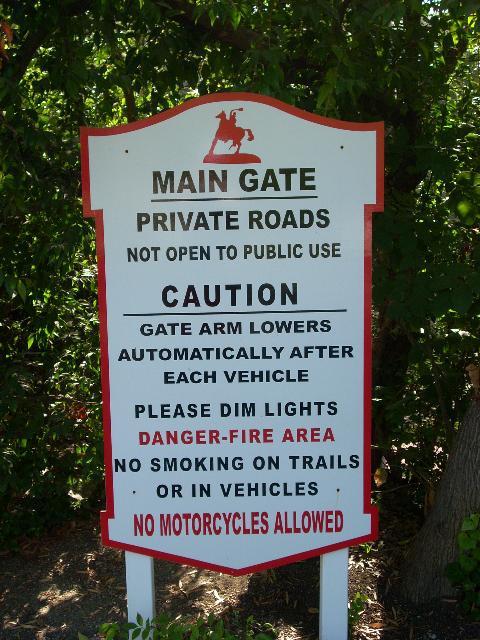 Rolling Hills CA Main Gate