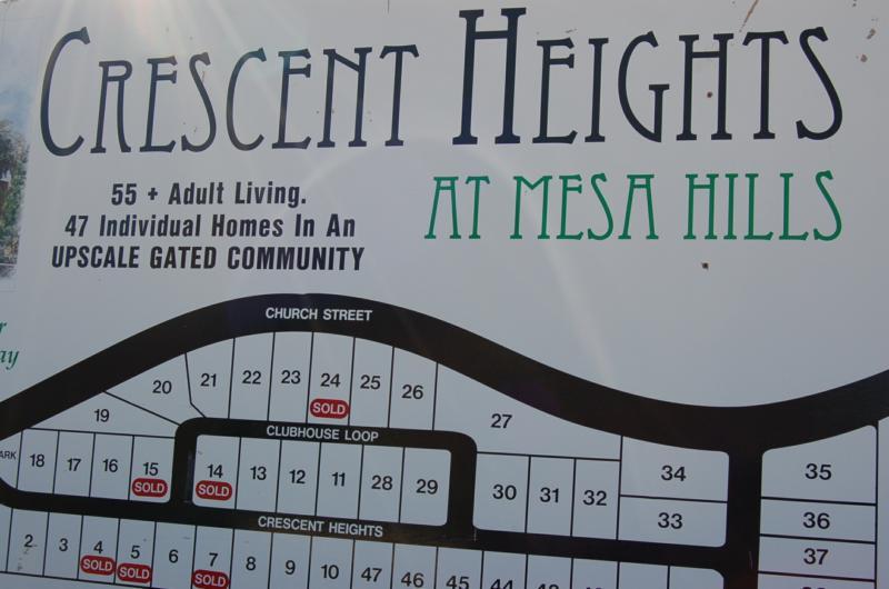 Cedar City Subdivisions….Crescent Heights at Mesa Hills….