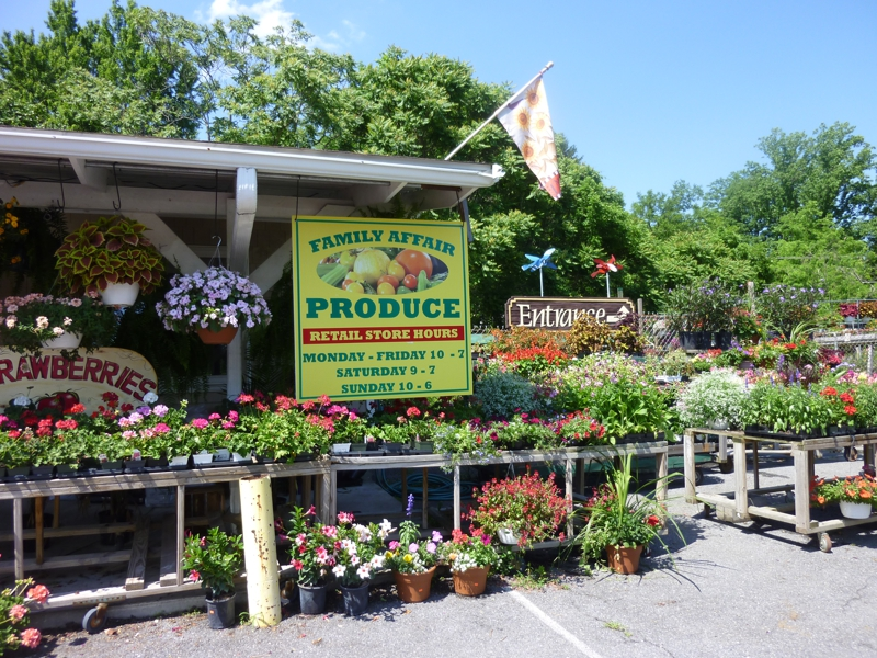 Produce and flower market in catonsville
