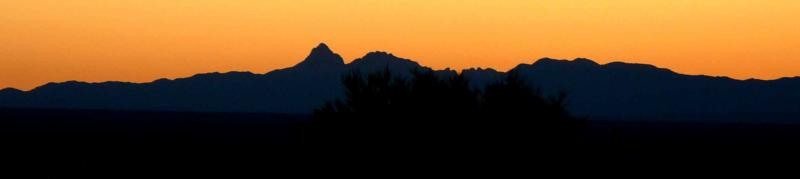 Baboquivari peak at sunset from Tucson Estates 2