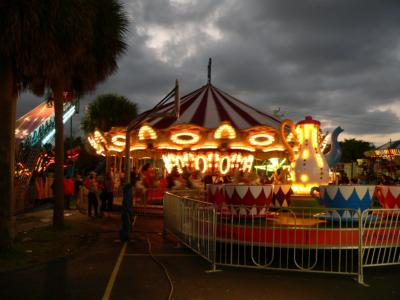 St. Rose Carnival at night