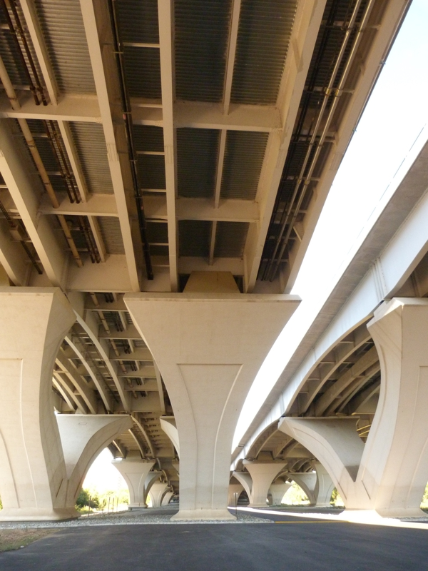 Underneath the Woodrow Wilson Bridge