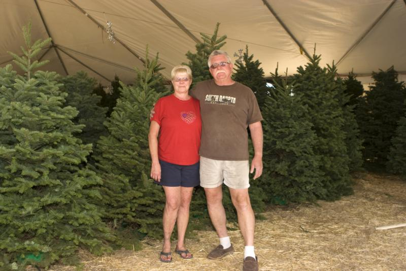 Michael and Sherri with the trees
