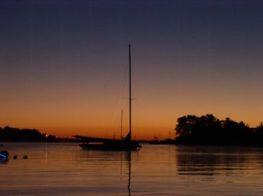 Toms River Sailboat Sunset