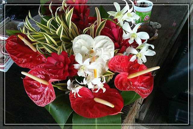Flowers from the Big Island - $5 anthurium bouquets