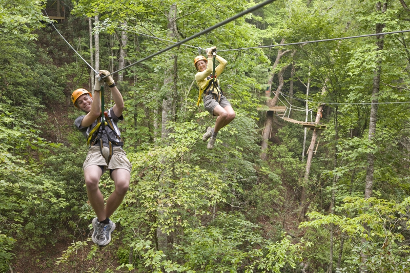 Zipline in the western NC mountains