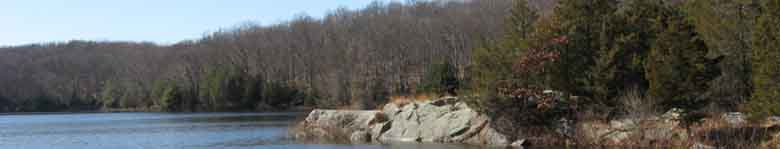 Huckleberry Rd Reservoir in Wilton CT