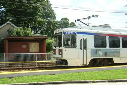 Leamy Ave SEPTA 101 Trolley Station Springfield PA