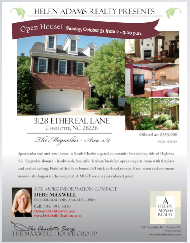 OPEN HOUSE South Charlotte NC The Magnolias – Home for Sale Brochure