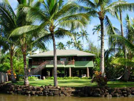 Luxury Living River Front Home Kauai