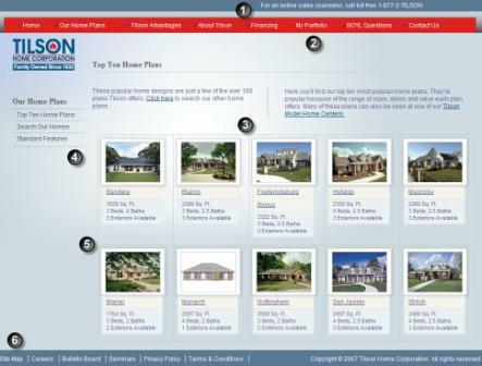 home builder website tilson