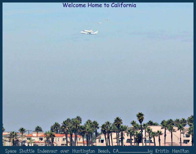 Space Shuttle Endeavor's Final Flight over Huntington Beach, California