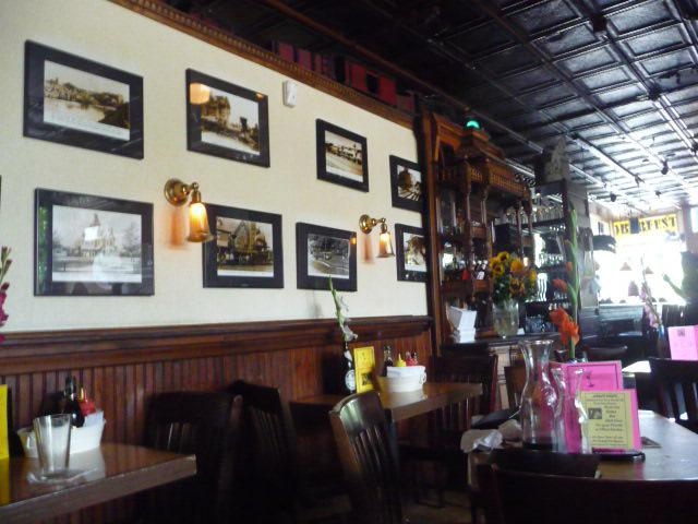 The walls with old photos of years gone by