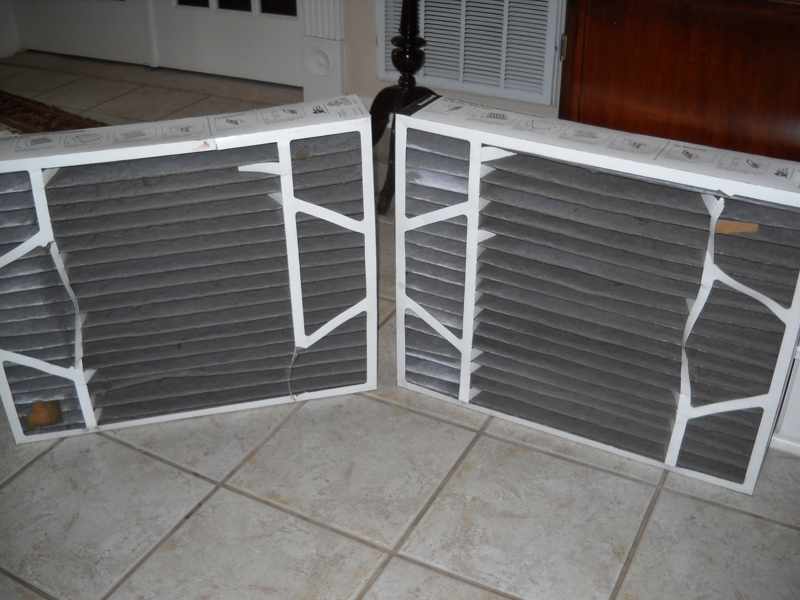 Dirity Air Filters Needing Replacement