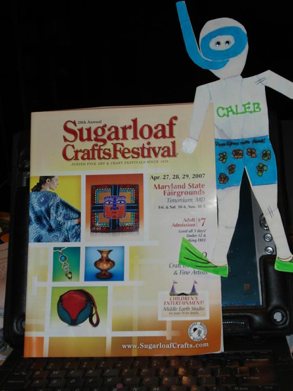 Why do you have caleb in your pants for Sugarloaf craft festival timonium