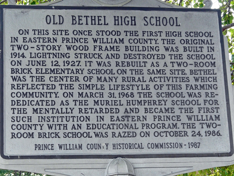 Old Bethel School Marker