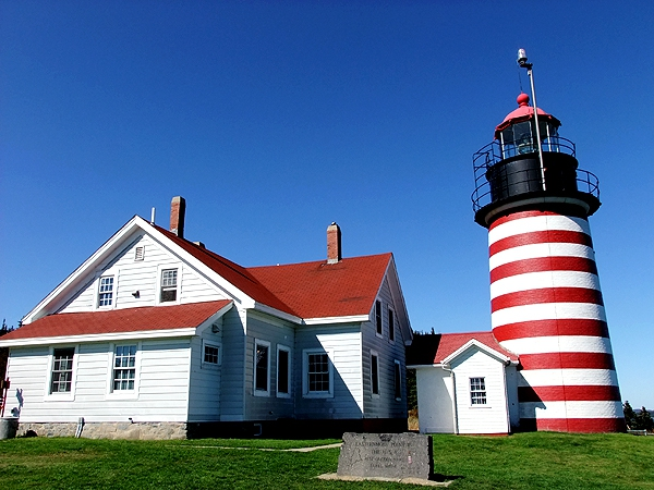 maine lighthouse, lubec me west quoddy head