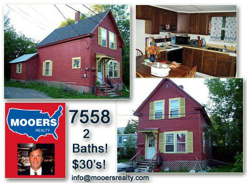 presque isle,home for sale,maine,aroostook county,mooers realty,low cost