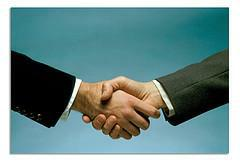 Are you shaking hands on-line too?