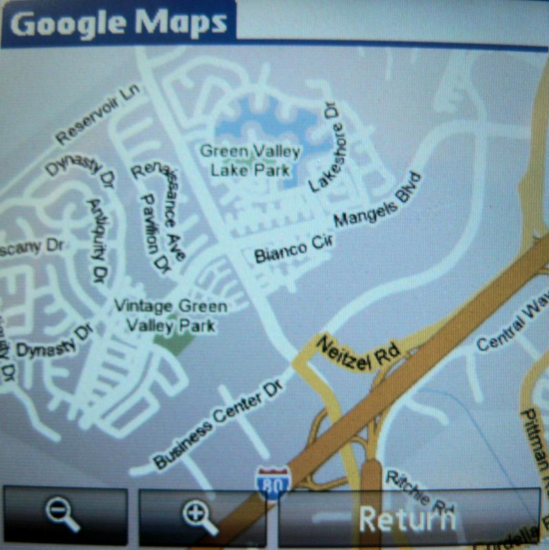TREO Map Brads Phone