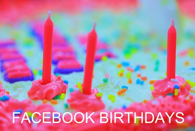 Easy to import your friends birthdays right from FaceBook to