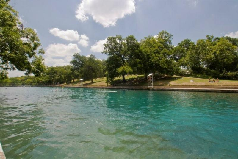 Barton Springs Pool Is the fourth largest natural springs in the state. and