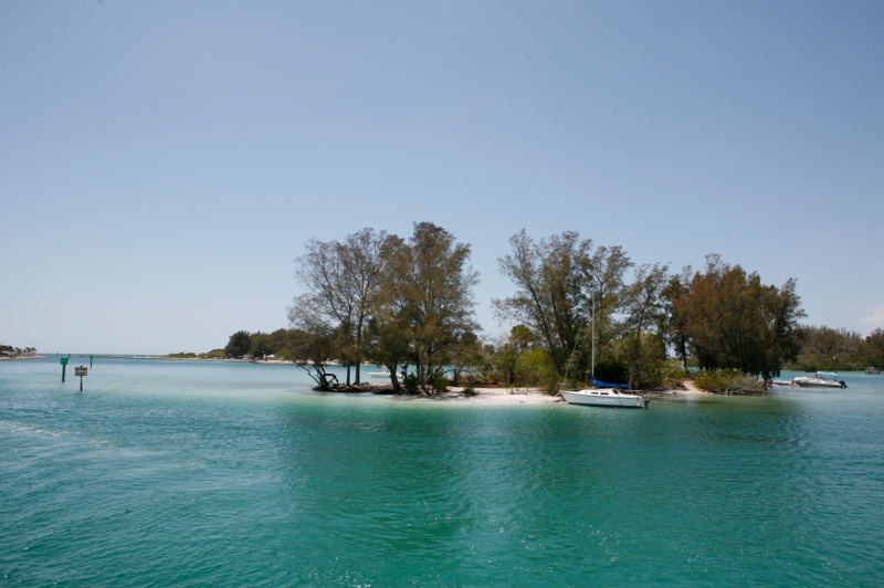One of those little sandbar islands only accessable by boat