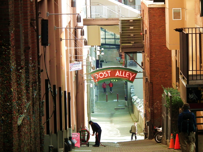 seattle fun in post alley. Black Bedroom Furniture Sets. Home Design Ideas