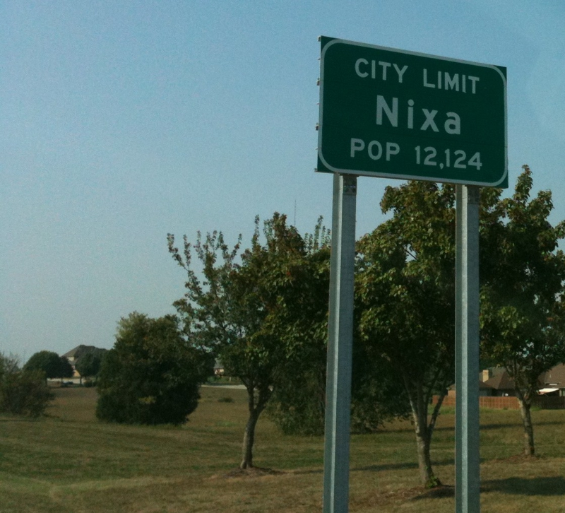 Nixa, MO Population Sign