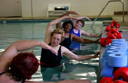 seniors aquatic class