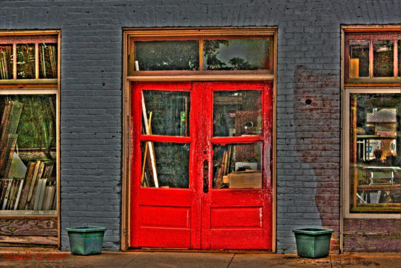 Red Doors on a Colbert, GA storefront by Michelle De 2009